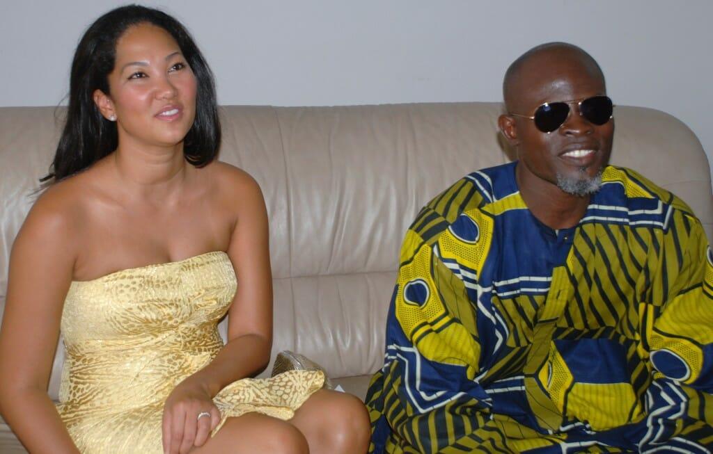 Djimon Hounsou with then-wife Komora Lee in Benin