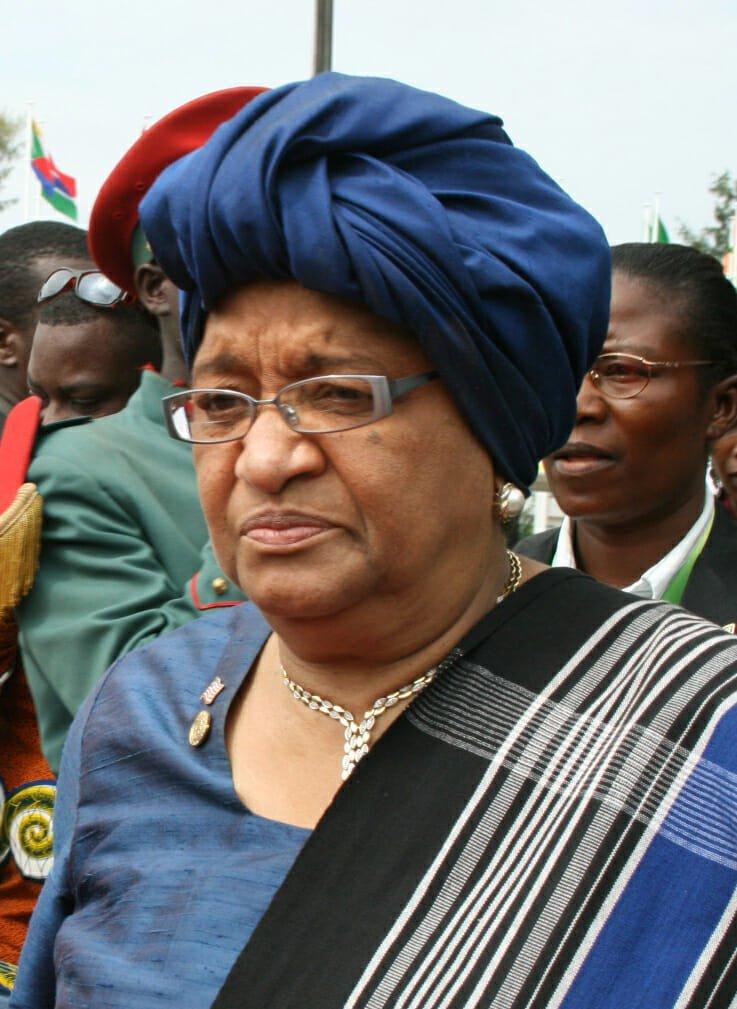 Liberia's president Ellen Johnson Shirleaf