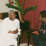 With former ADB President Babacar Ndiaye