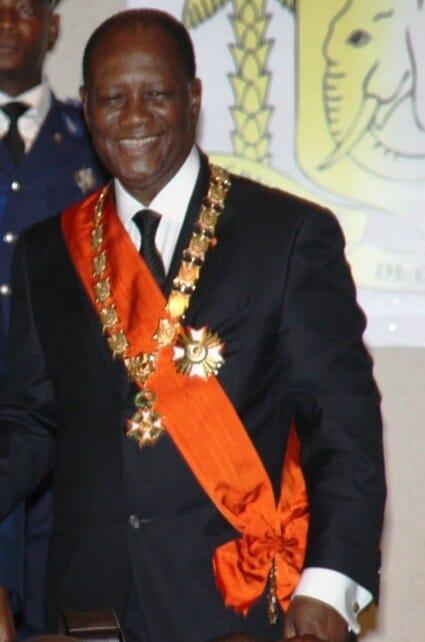 Just-inaugurated Ivorian President Alassane Ouattara