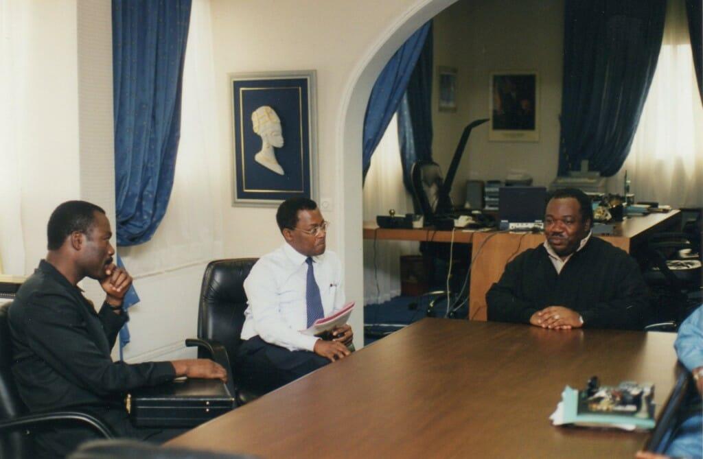 Soumanou Salifou with Gabon's President Ali Bongo
