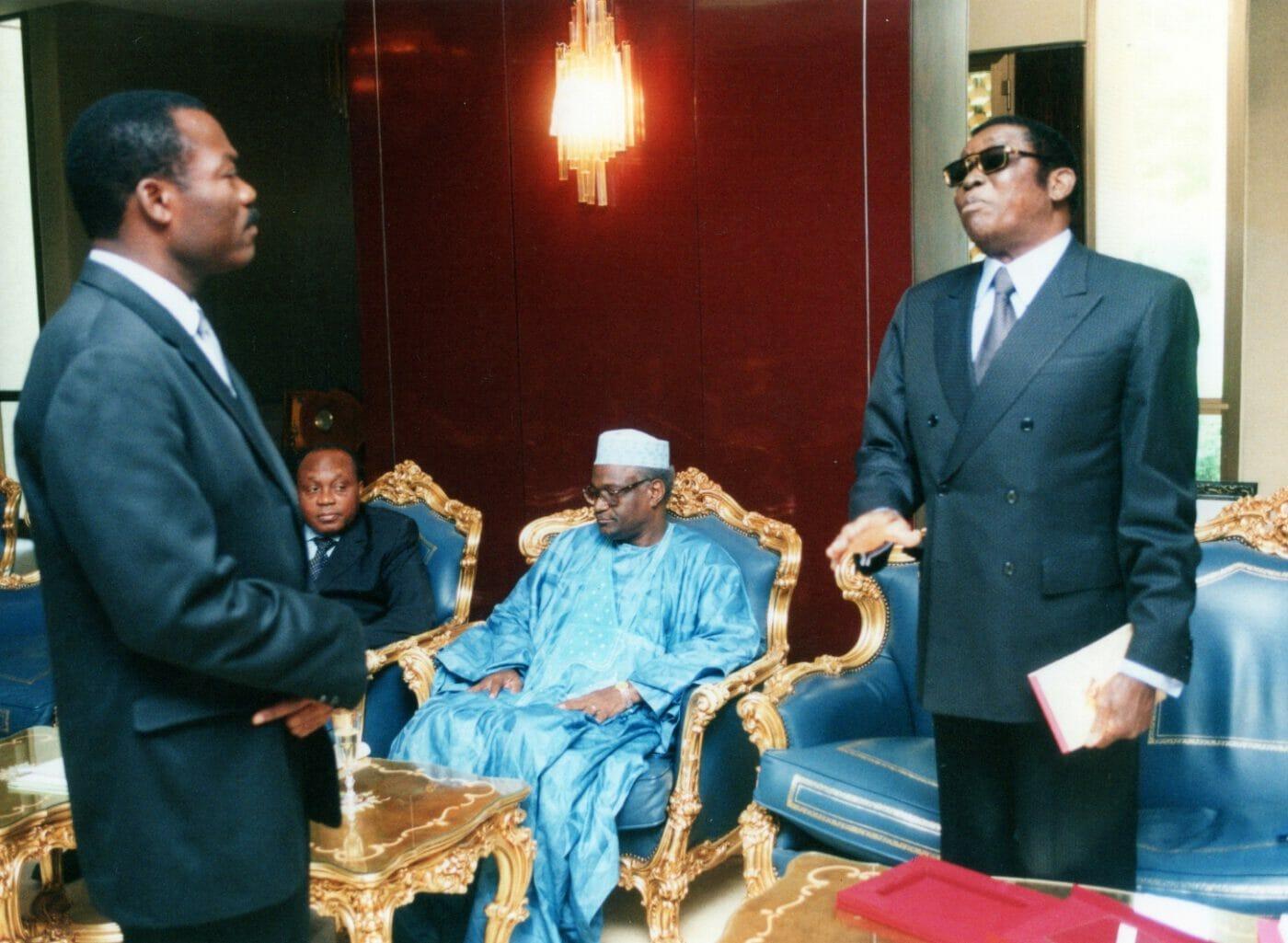 Soumanou Salifou with Togo's President Gnassingbe Eyadema