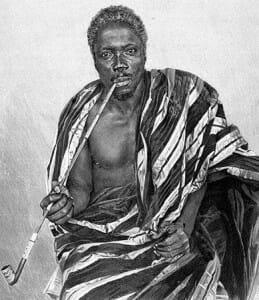 A portrait of King Gbêhanzin, the last precolonial King of Danxomê, 1889-1894