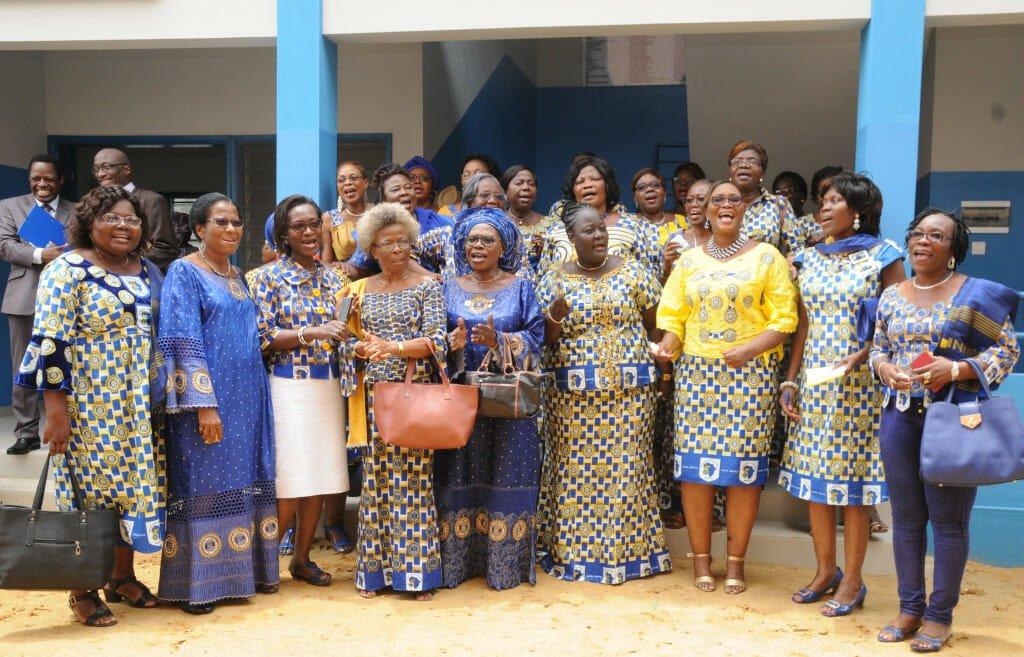 Inner Wheel members joyfully sing their hymn