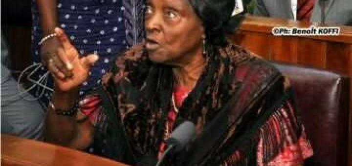 Veteran legislator, Grand-ma Rosine Vieyra Soglo, in the parliament building last week.