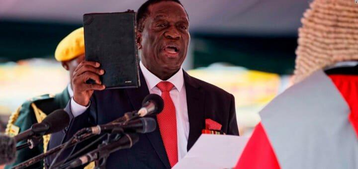 Emmerson Mnangagwa sworn-in as the new president of Zimbabwe