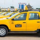 A portion of Benin Taxi fleet
