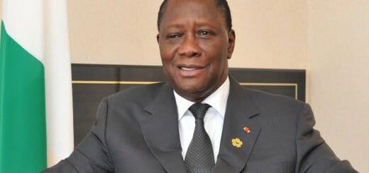 Cote d'Ivoire's president, Alassane Ouattara