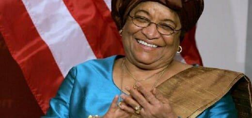 Former Liberian president Ellen Johnson-Sirleaf