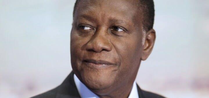 Cote d'Ivoire's president Alassane Ouattara