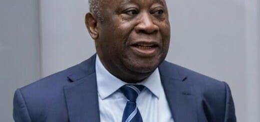 Former Ivorian president Laurent Koudou Gbagbo