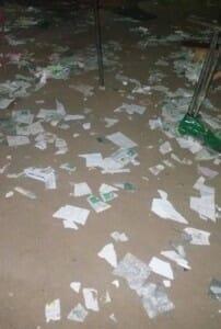 Destroyed voting materials