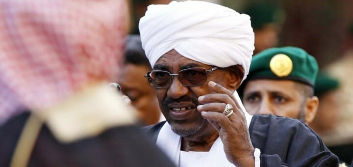 Deposed Sudanese president Omar Al-Bashir