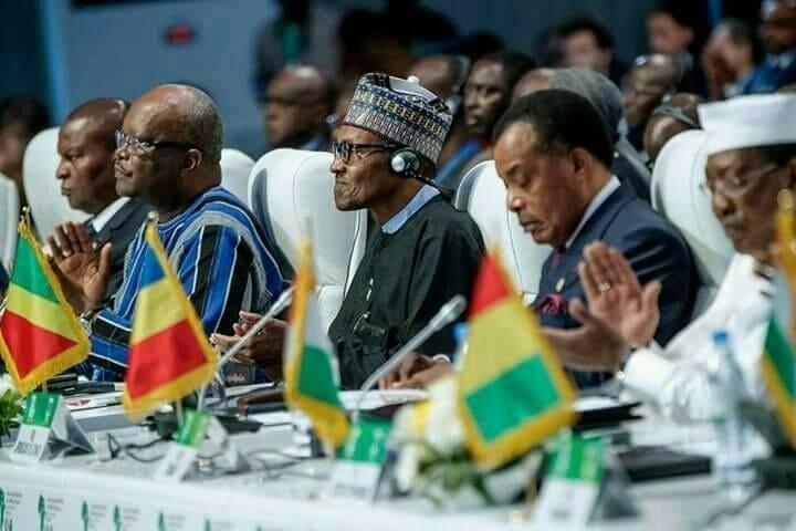 Buhari at Lome ECOWAS summit meeting